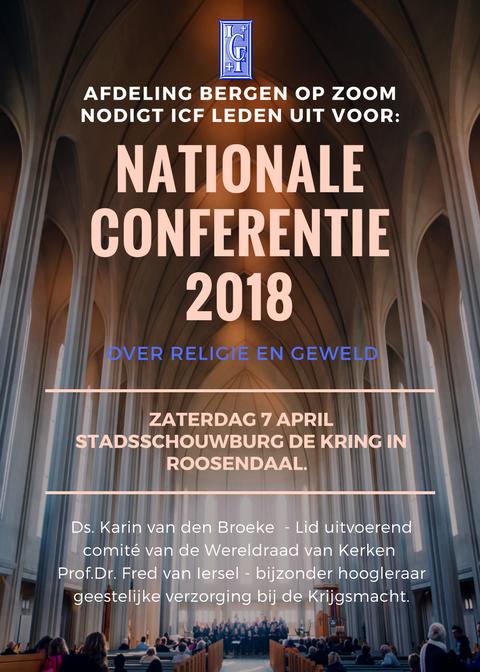 Poster voor nationale conferentie ICF Nederland 2018